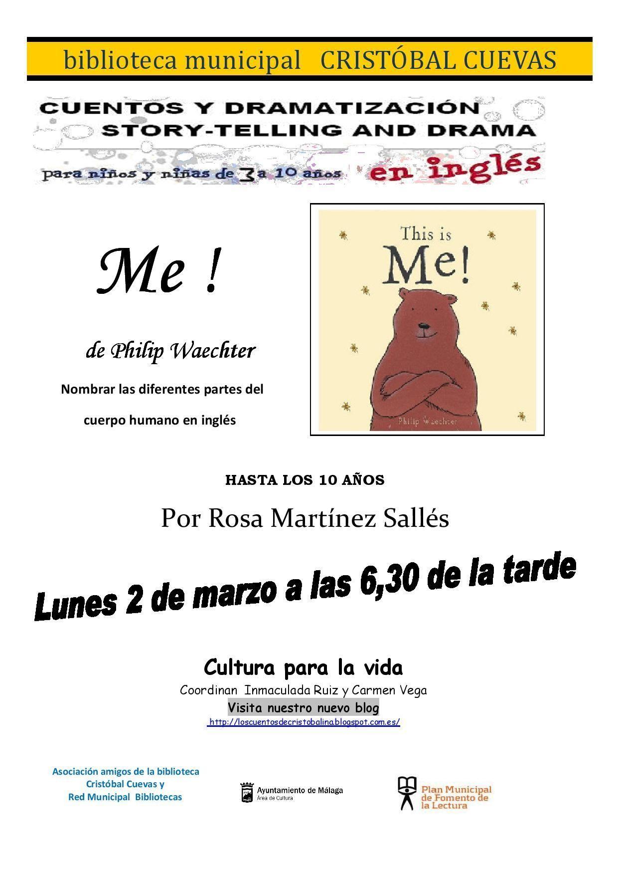 """Storytime en la Biblioteca """"Cristóbal Cuevas"""" (Bailén-Miraflores)"""