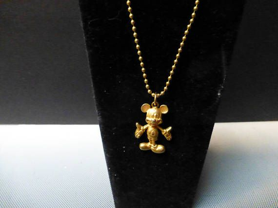 Unique RARE mickey mouse pendant movable head 18IN CHAIN Thrifting