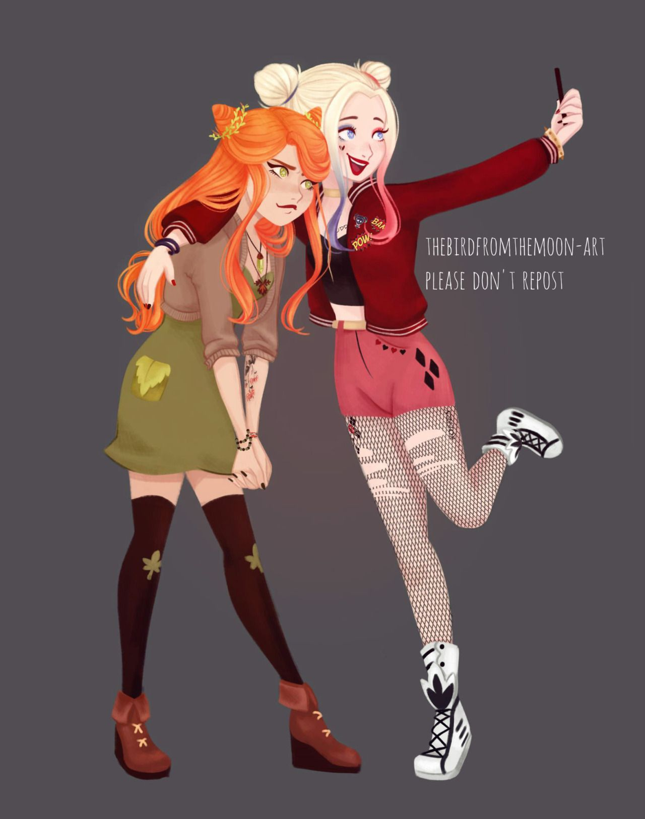cecfee2658b6 Cute Harlivy picture! Seriously I LOVE this one. Harley Quinn and ...