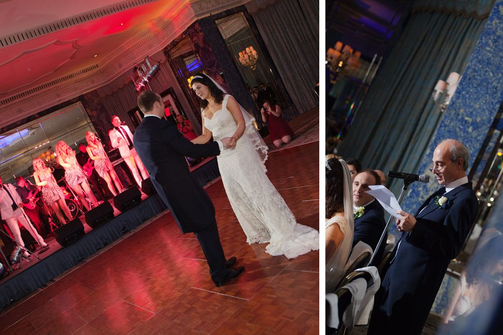 The Dorchester Ballroom Wedding Dance Speach Photography
