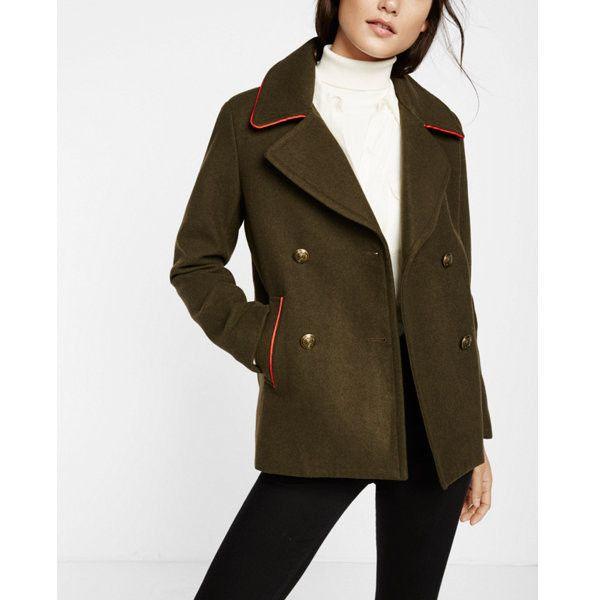 Green coat pea coat