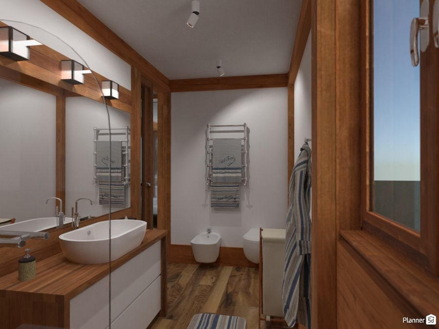 Log Bathroom Interior White And Brown Color Planner 5d Home Design Software Interior Design Tools Bathroom Interior Design