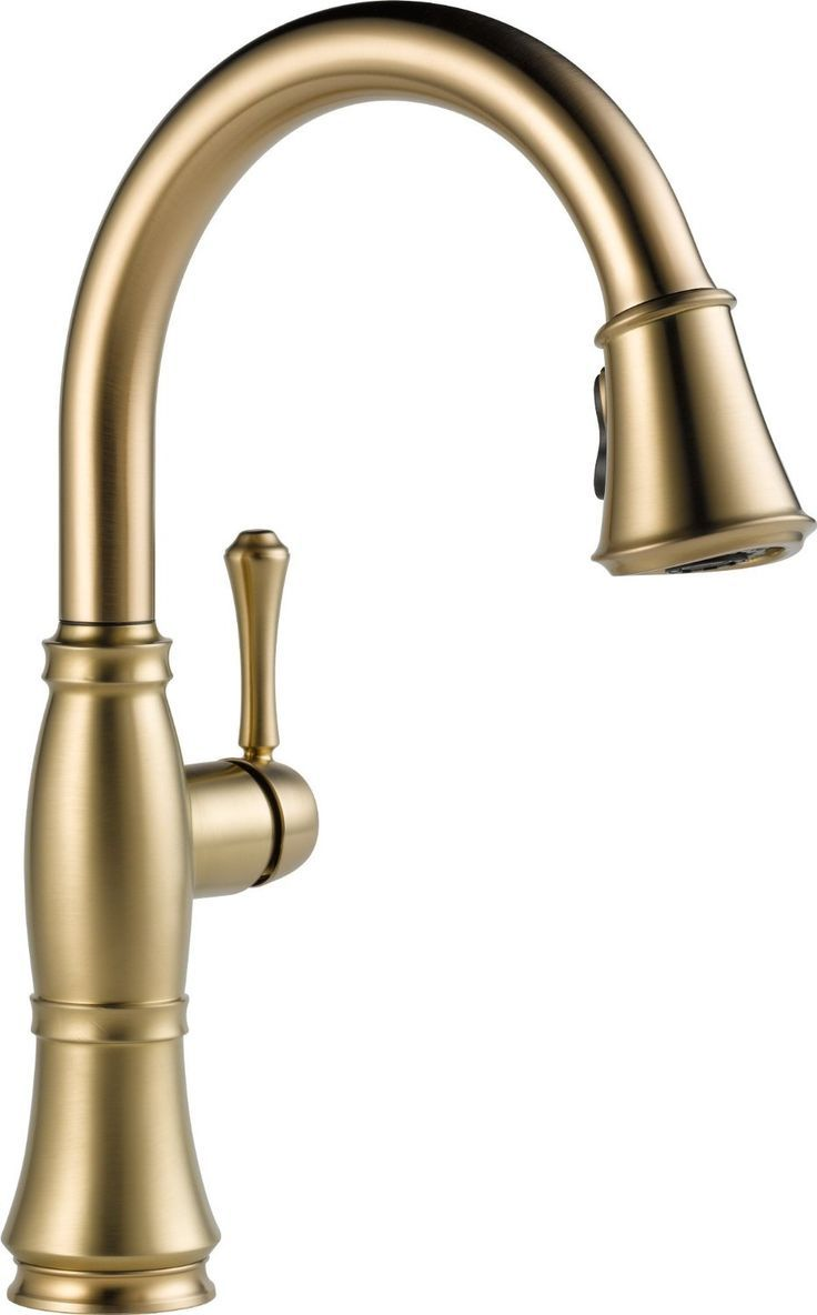 Delta Faucet 9197-CZ-DST Cassidy, Single Handle Pull Down Kitchen ...