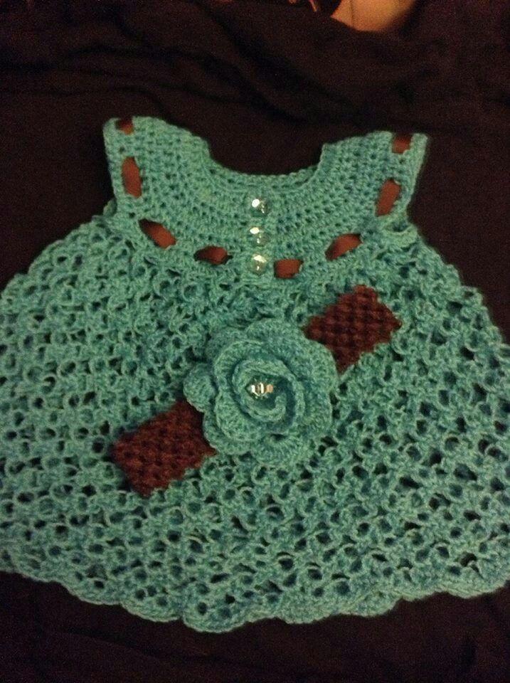 Crochet no pattern | vestidos x bebe | Pinterest | Ropita de bebe ...