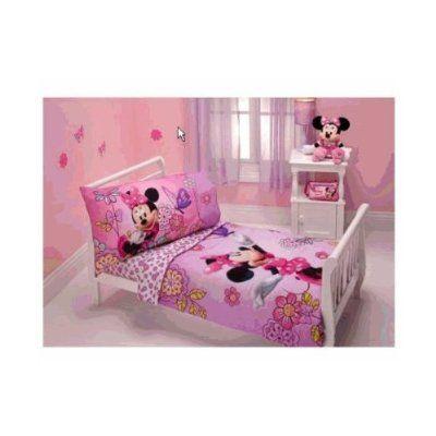 Minnie Mouse - Flower Garden 4-piece Toddler Bedding Set ...
