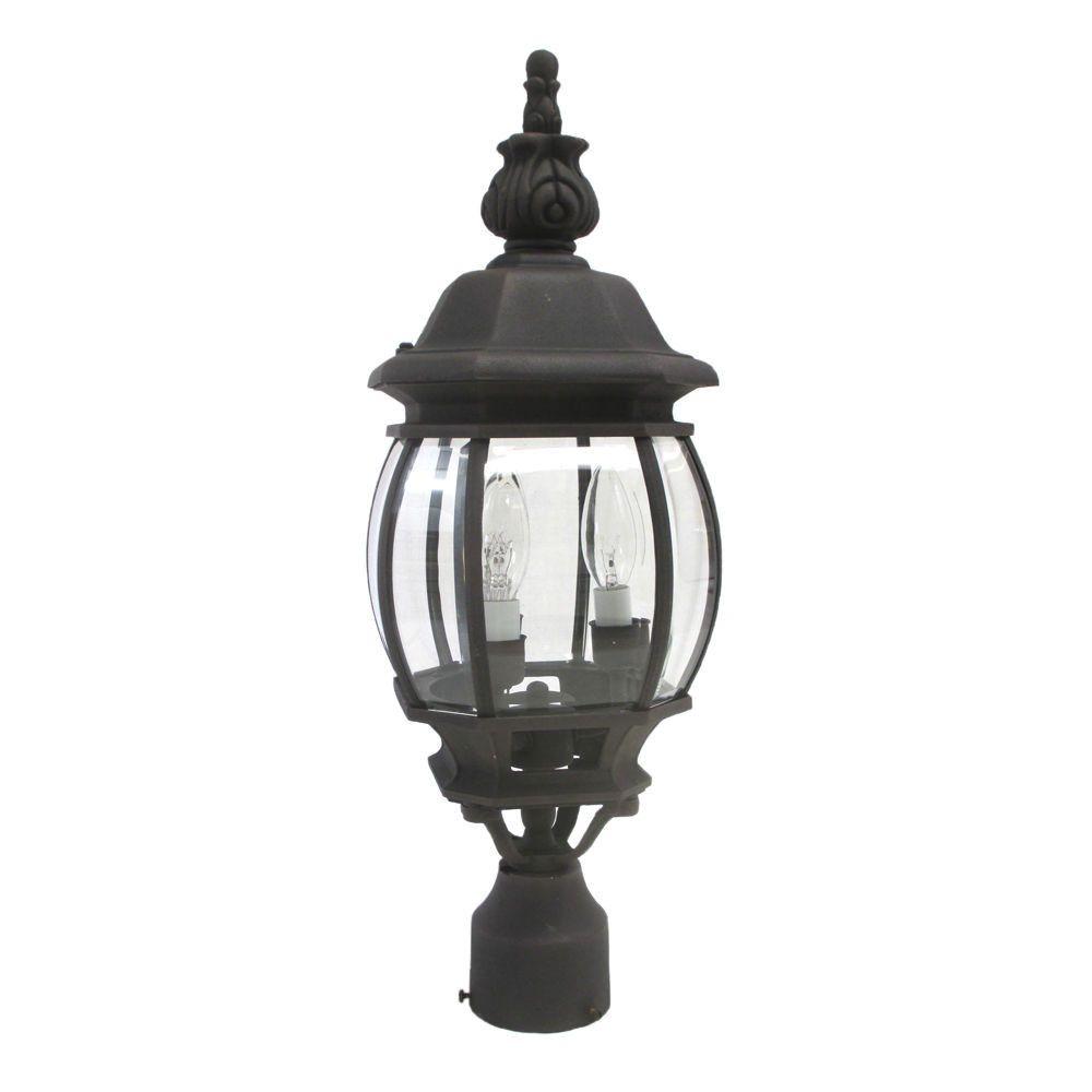 Designers Fountain Lighting 2416 AG Three Light Outdoor Exterior Post Lantern in Autumn Gold Finish