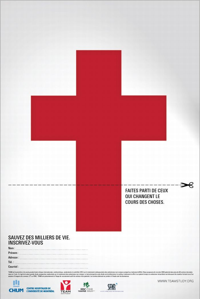 University of Montreal Hospital Centres: Cross : Print Ads