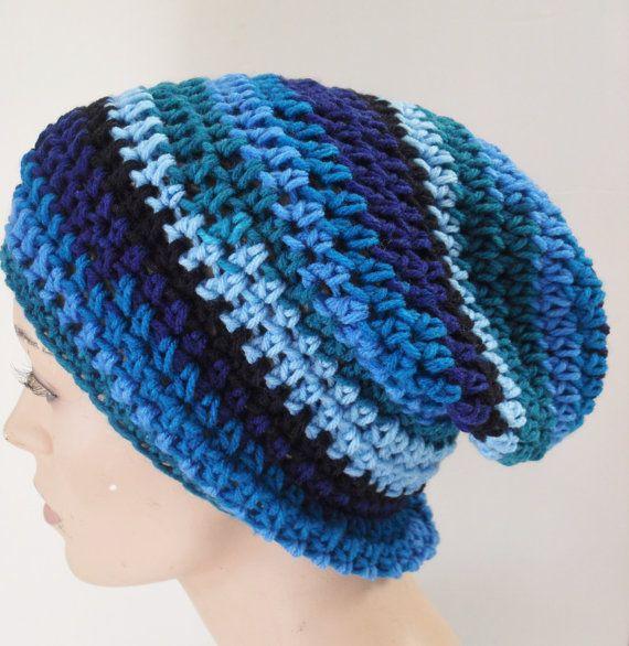 Messy Bun beanie, Man Bun Hat, Mens Bun Slouchy, Crochet Bun Beanie ...