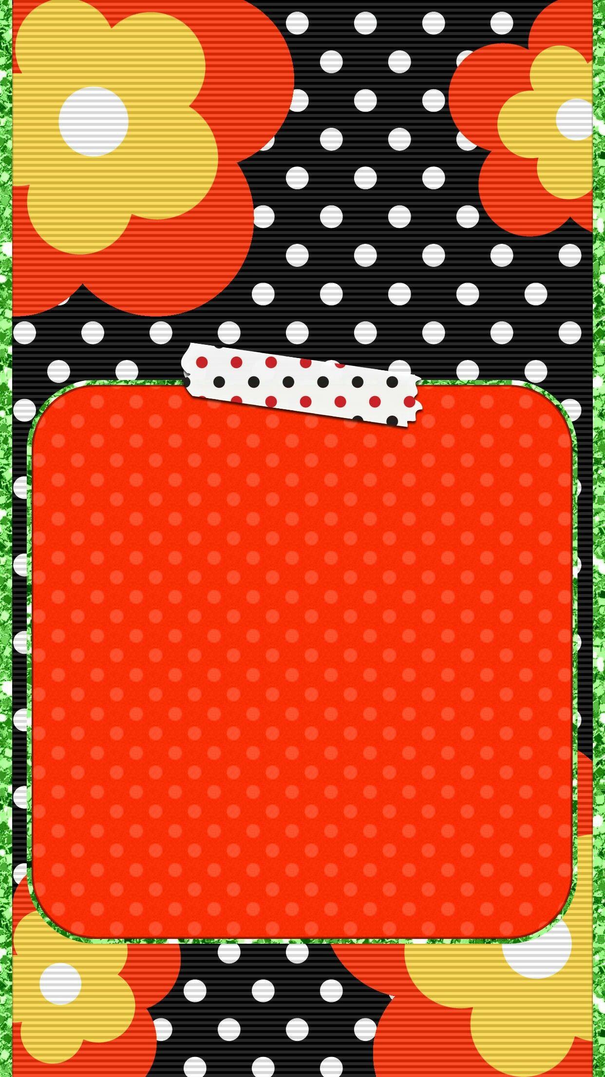 Cute ladybug wallpaper iphone Polka dots wallpaper