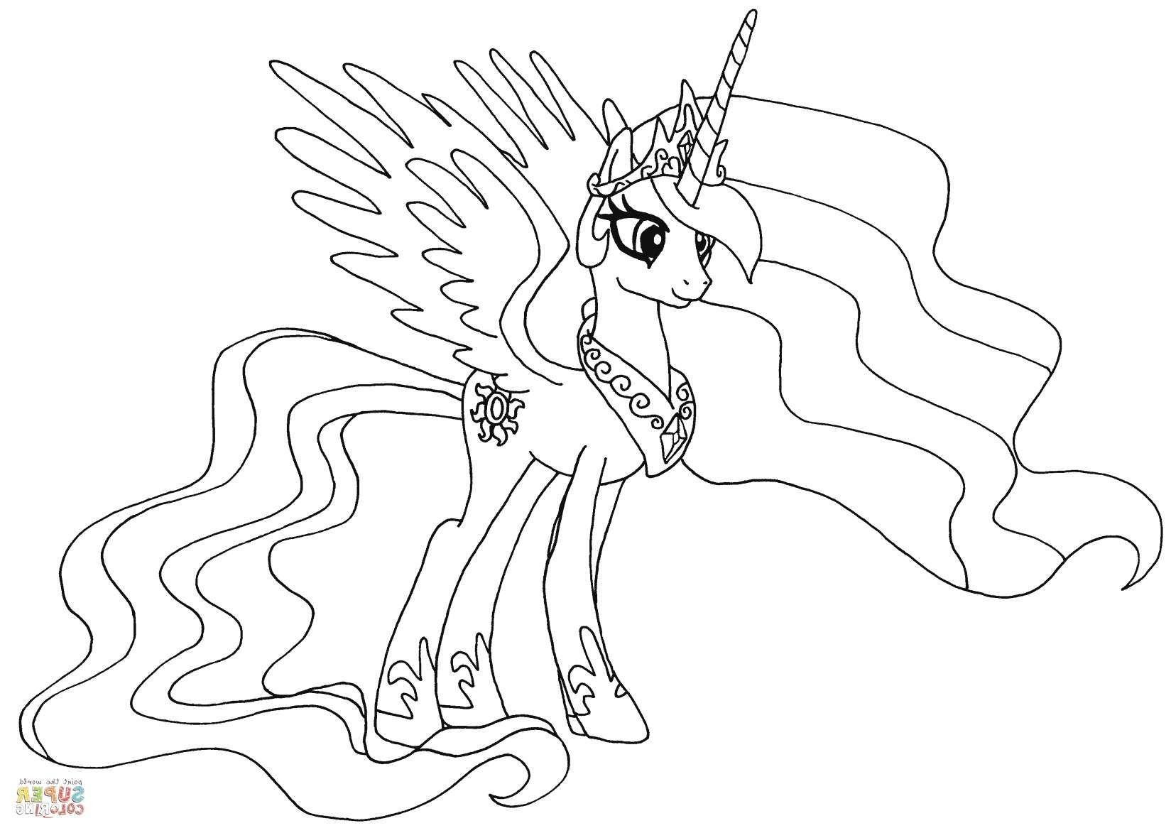 prinzessin celestia ausmalbilder neu my little pony