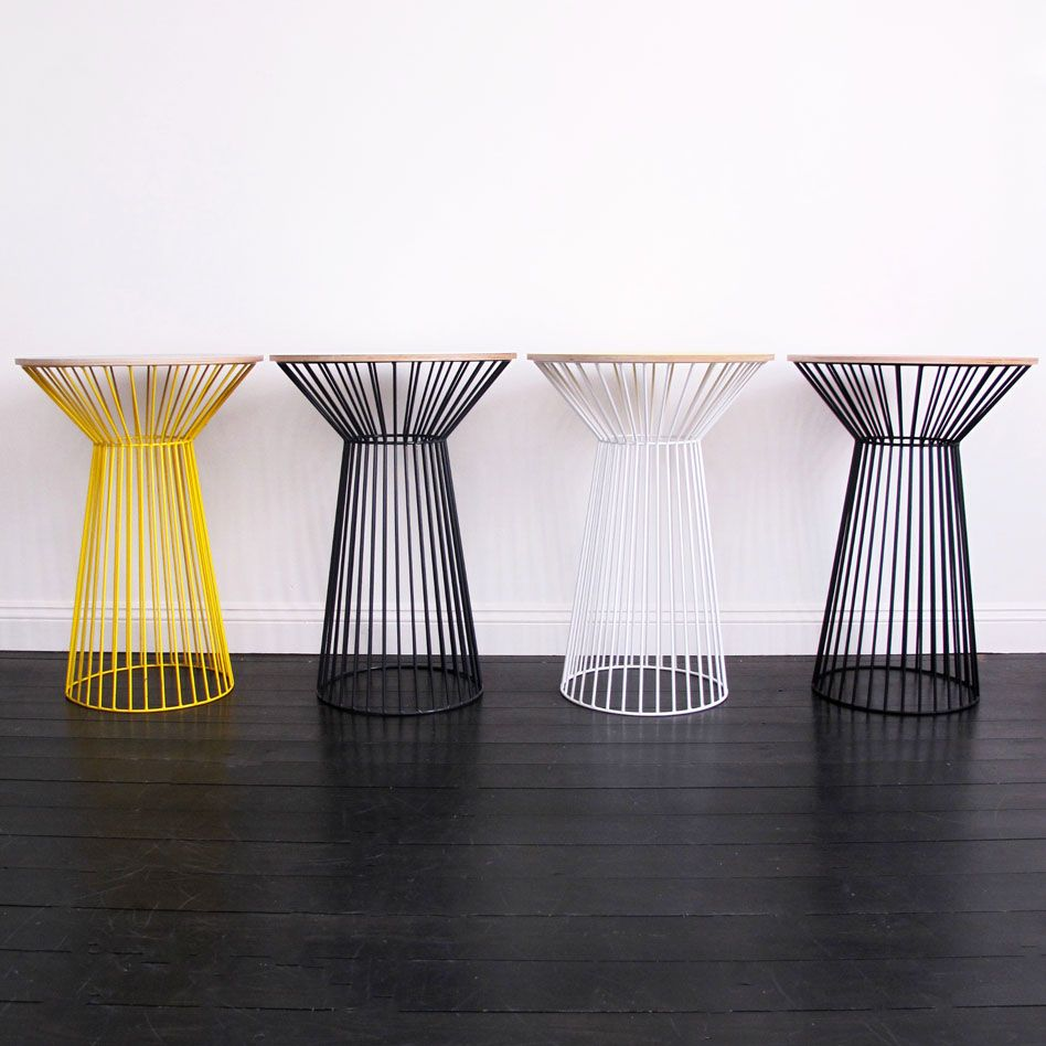 Steel 'wire tulip' side tables....pick a colour! 