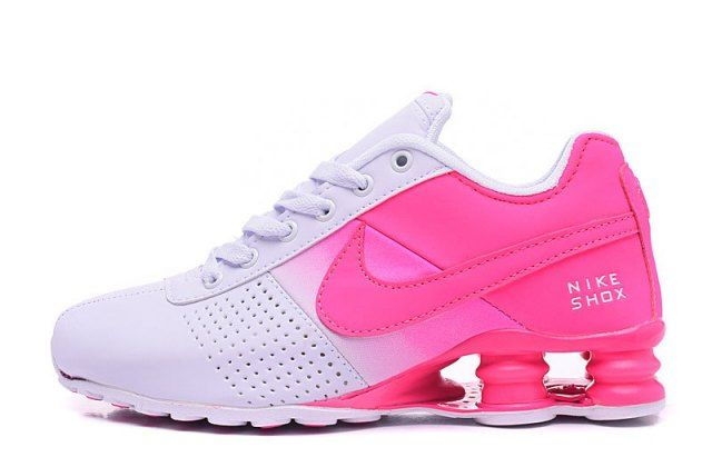 brand new 6370e da2b2 Womens Nike Shox Deliver Hyper Pink White Girl Sport Athletic Running Shoes