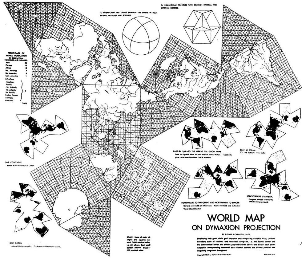 The dymaxion map by buckminster fuller this is cool great ideas the dymaxion map by buckminster fuller this is cool gumiabroncs Images