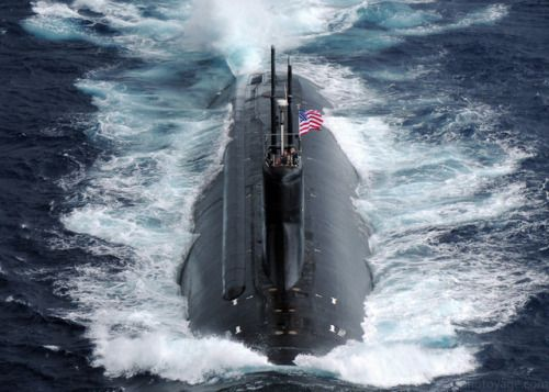 PACIFIC OCEAN (Nov. 17 2009) The Seawolf-class fast-attack submarine USS Connecticut (SSN 22) transits the Pacific Ocean during Annual Exercise (ANNUALEX 21G). ANNUALEX is a yearly bilateral exercise with the U.S. Navy and the Japan Maritime Self-Defense Force. (U.S. Navy photo by Mass Communication Specialist Seaman Adam K. Thomas/Released)