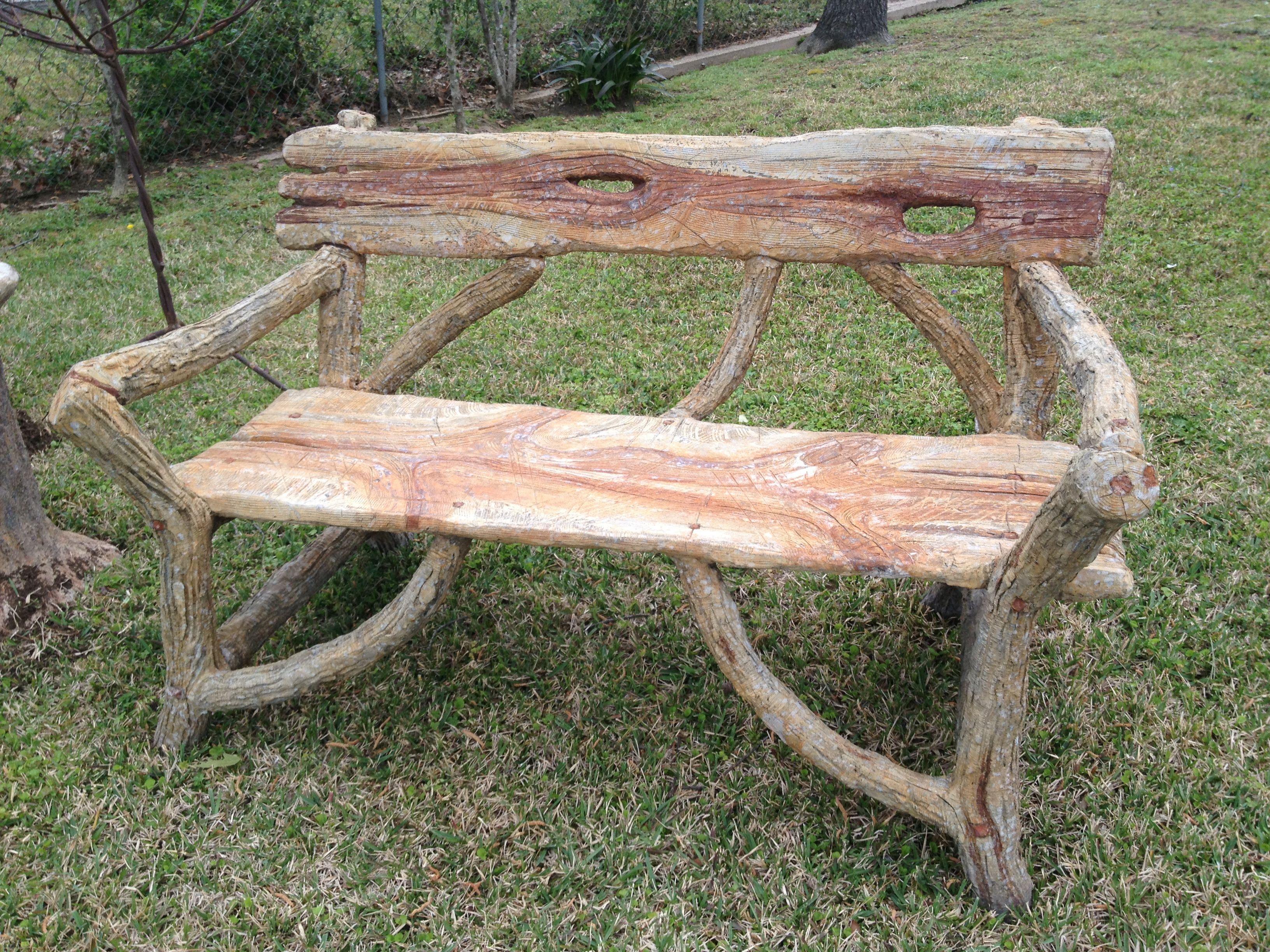 faux bois bench from San Antonio Kelly Lansford