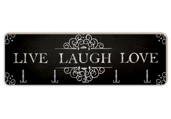 Patères Design - Patère Live Laugh Love - Horizontale