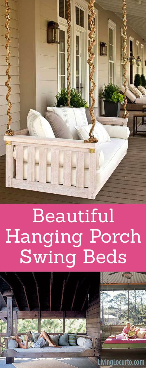 Beautiful Hanging Porch Swing Beds! Home Decor and Garden ...
