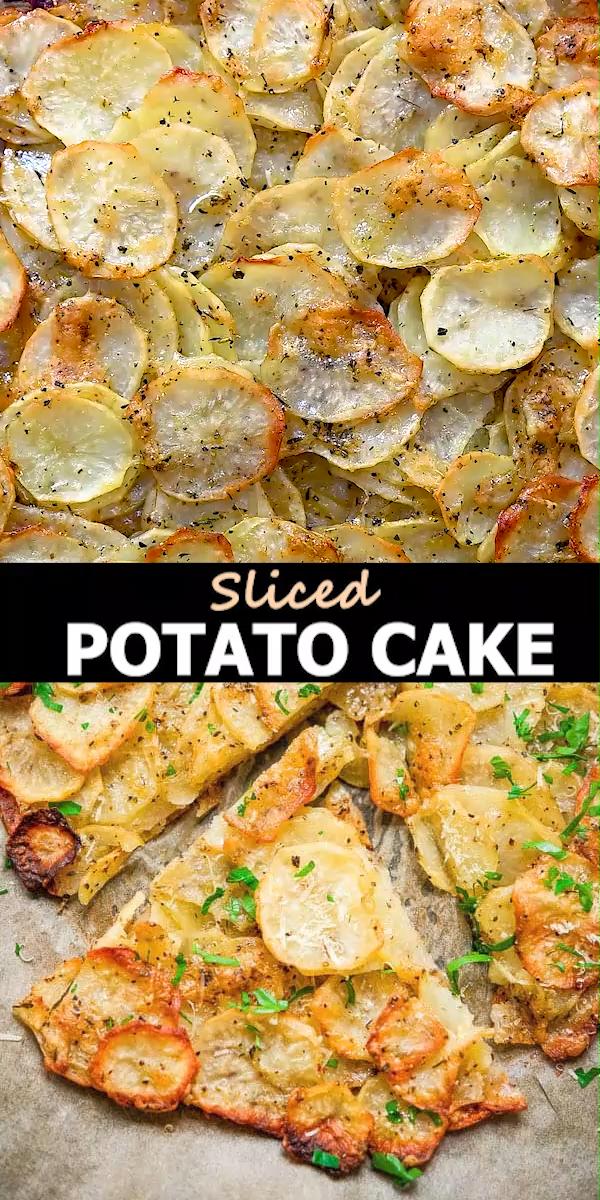 Sliced Potato Cake