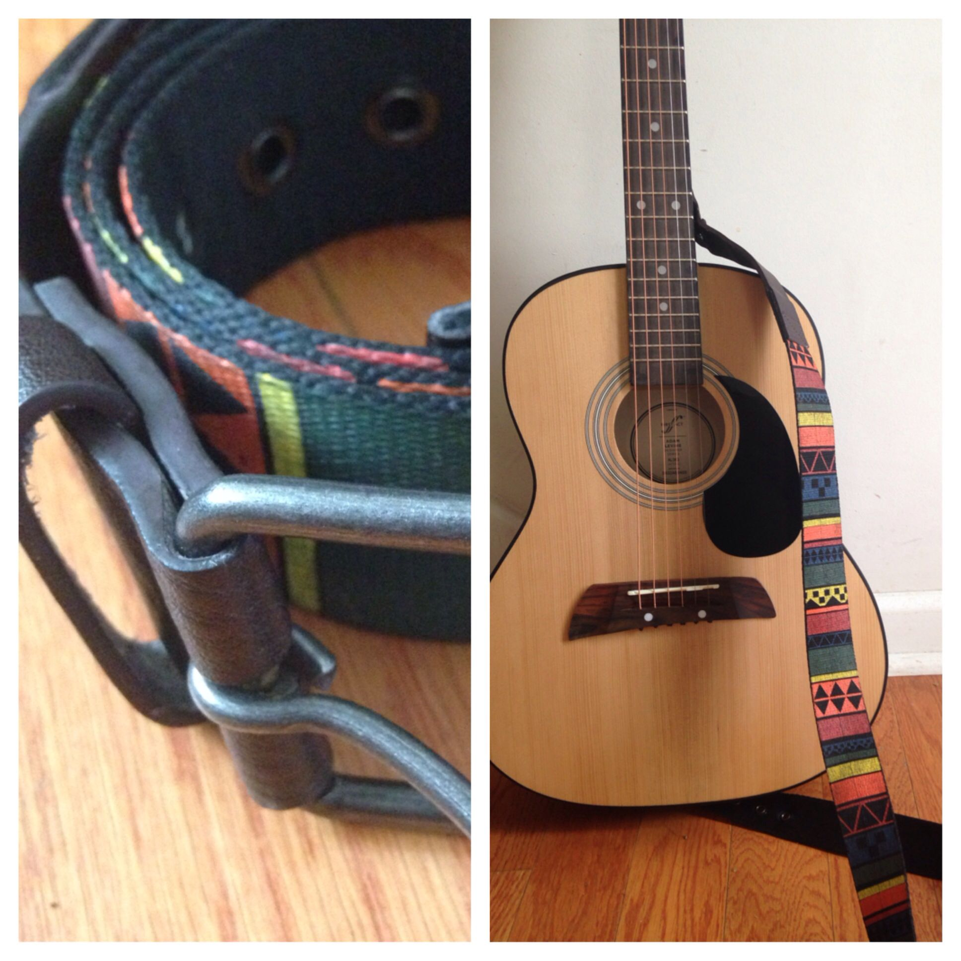 diy guitar strap. this belt was given to me from a friend because it