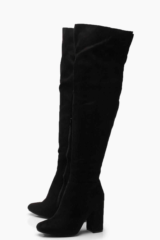 d808af55ca5 Block Heel Over The Knee Boots in 2019