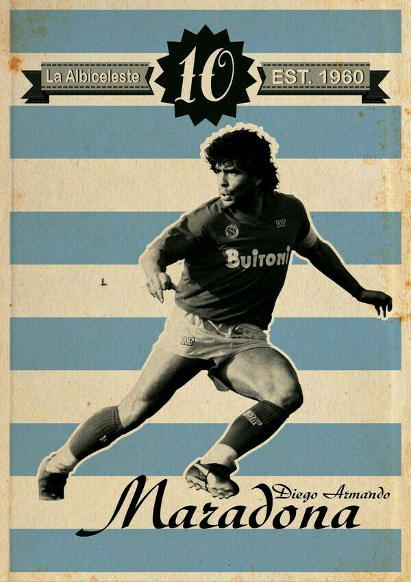 Diego Maradona Of Napoli Argentina Wallpaper Soccer World Football Poster Soccer Poster