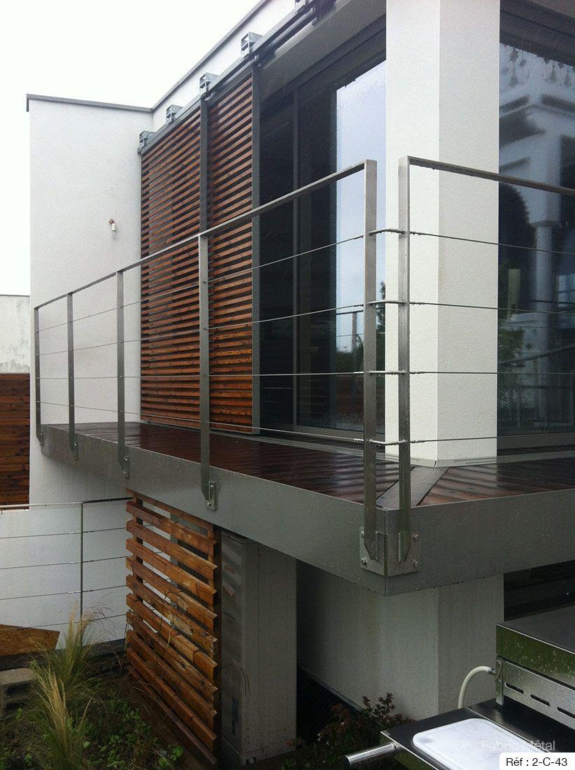 Terrasse Surélevée En Acier fabricant garde-corps inox pour l'extérieur, en bretagne