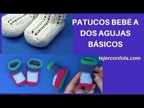 2aa6d50f5 PATUCOS DE BEBÉ PUNTO LISO BABY BOOTIES ESPAÑOL-ENGLISH PATTERN - YouTube  Calcetines De Bebé