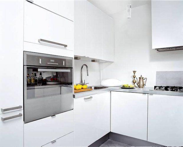 Cocina blanca con encimera gris decoracion cocinas - Cocina blanca y gris ...