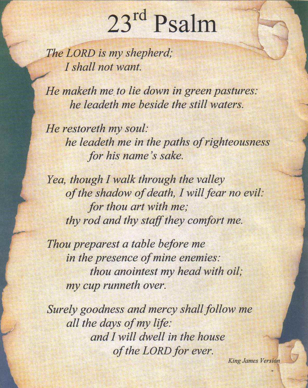 picture relating to Printable 23rd Psalm referred to as Pin via Martha Boals upon Sunday College or university Psalms, Psalm 23 kjv