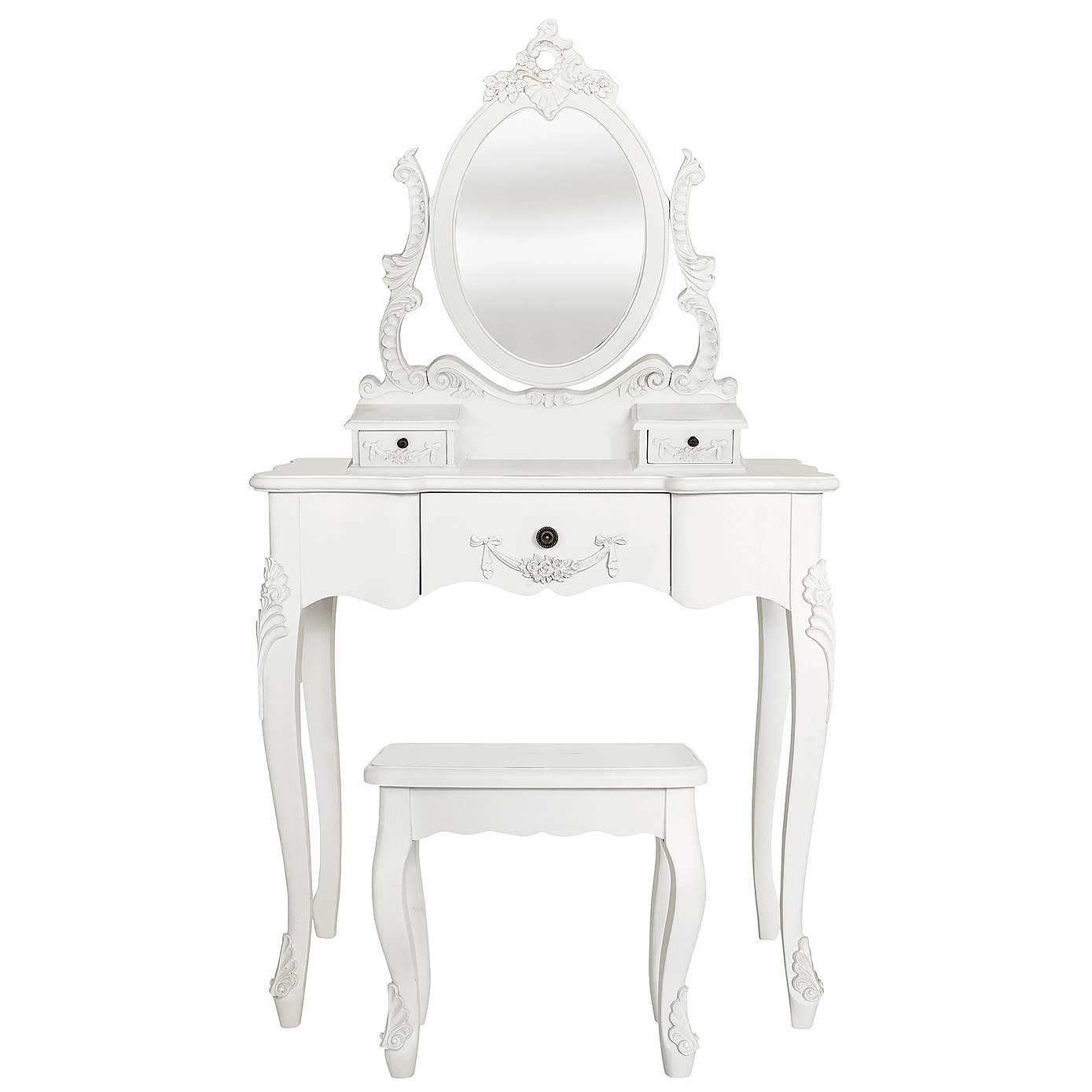 Toulouse White Dressing Table Set White Dressing Tables - Toulouse bedroom furniture white