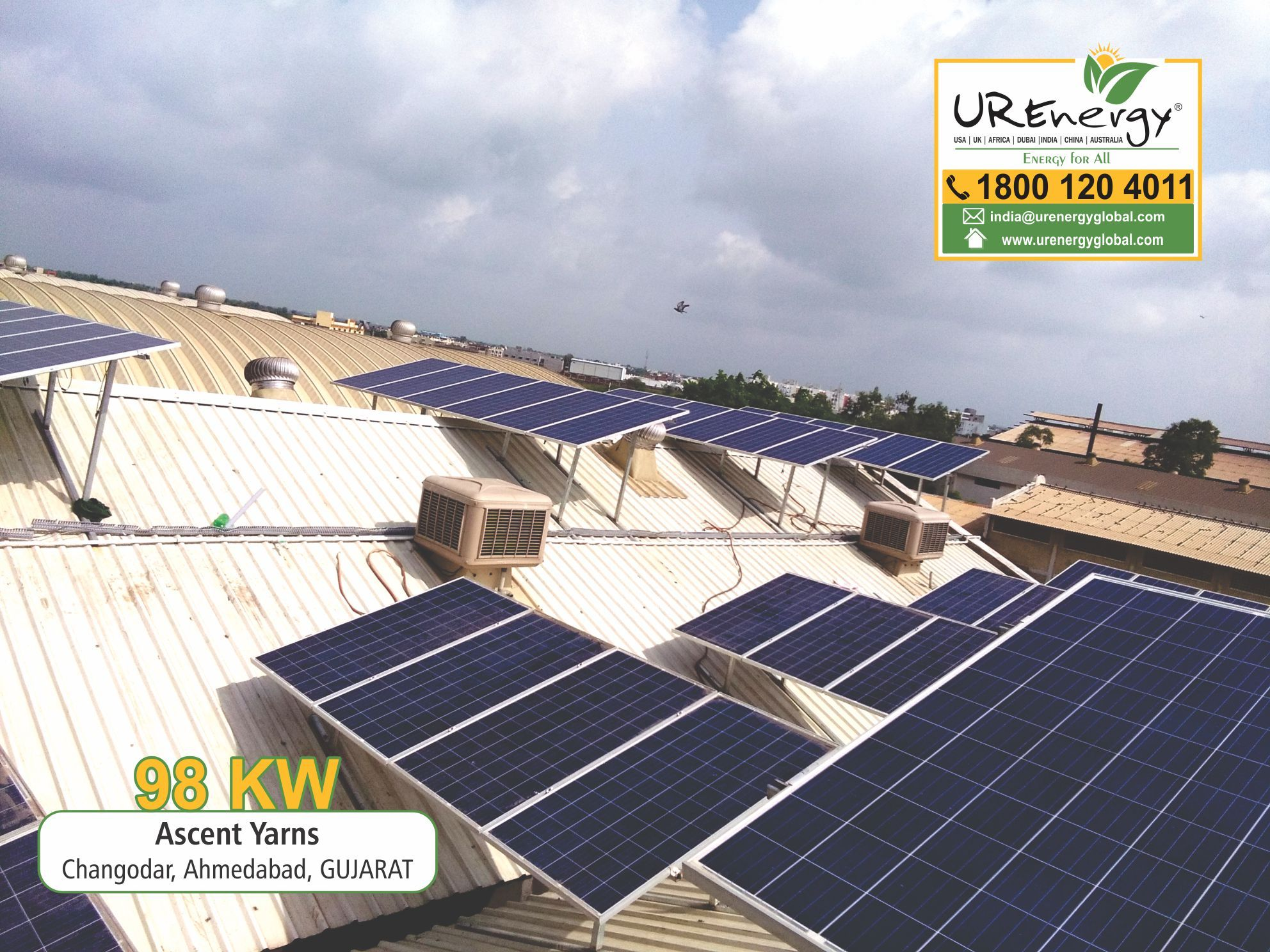 98 Kw Commercial Solar Panel Project Completed By U R Energy India