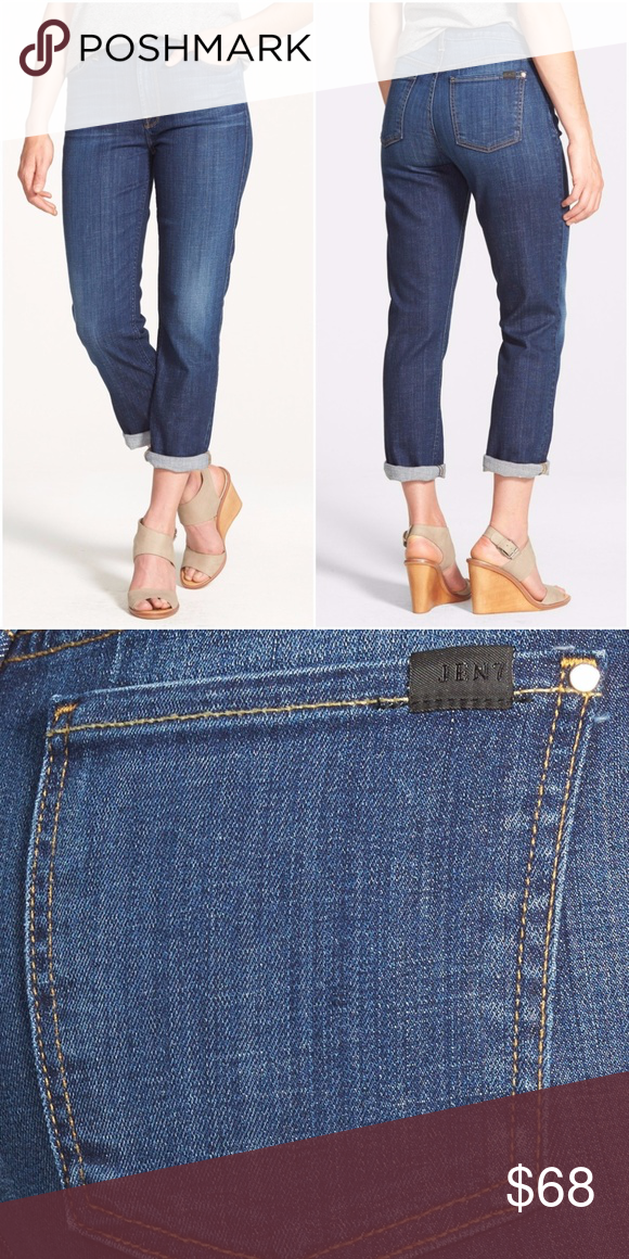3ee88f8559eb1 JEN7 Straight Crop & Roll Jeans Stretch Size 6 Women's Jen 7 Rolled Straight  Leg