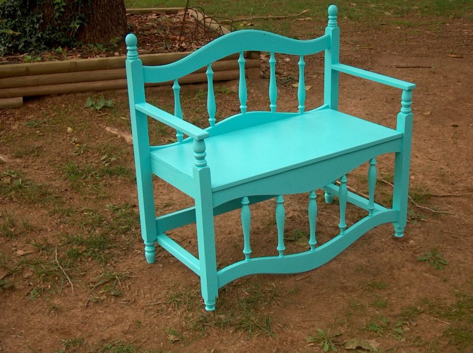 Bench made from bed frame Bed frame bench
