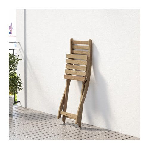 Askholmen Chair Outdoor Gray Brown Foldable Gray Brown Stained Light Brown Light Brown Stained Ikea Stoelen Ikea Beits