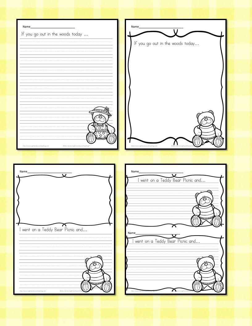Teddy Bear Picnic Writing Prompts Cute Free And Fun Teddy Bear Picnic Teddy Bear Day Writing Prompts For Kids [ 1056 x 816 Pixel ]
