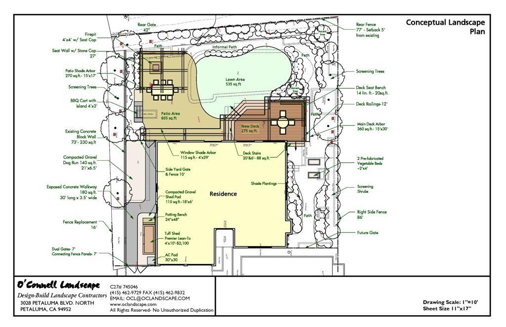 Image result for landscape plans for large backyard with ...