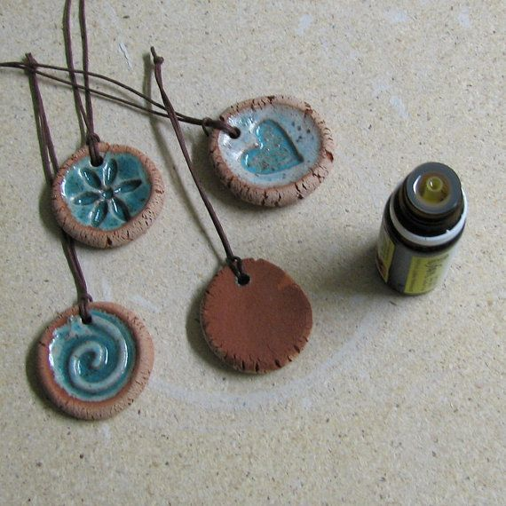 Ceramic Pendants or Ornaments or Essential Oil Diffusers - set of three