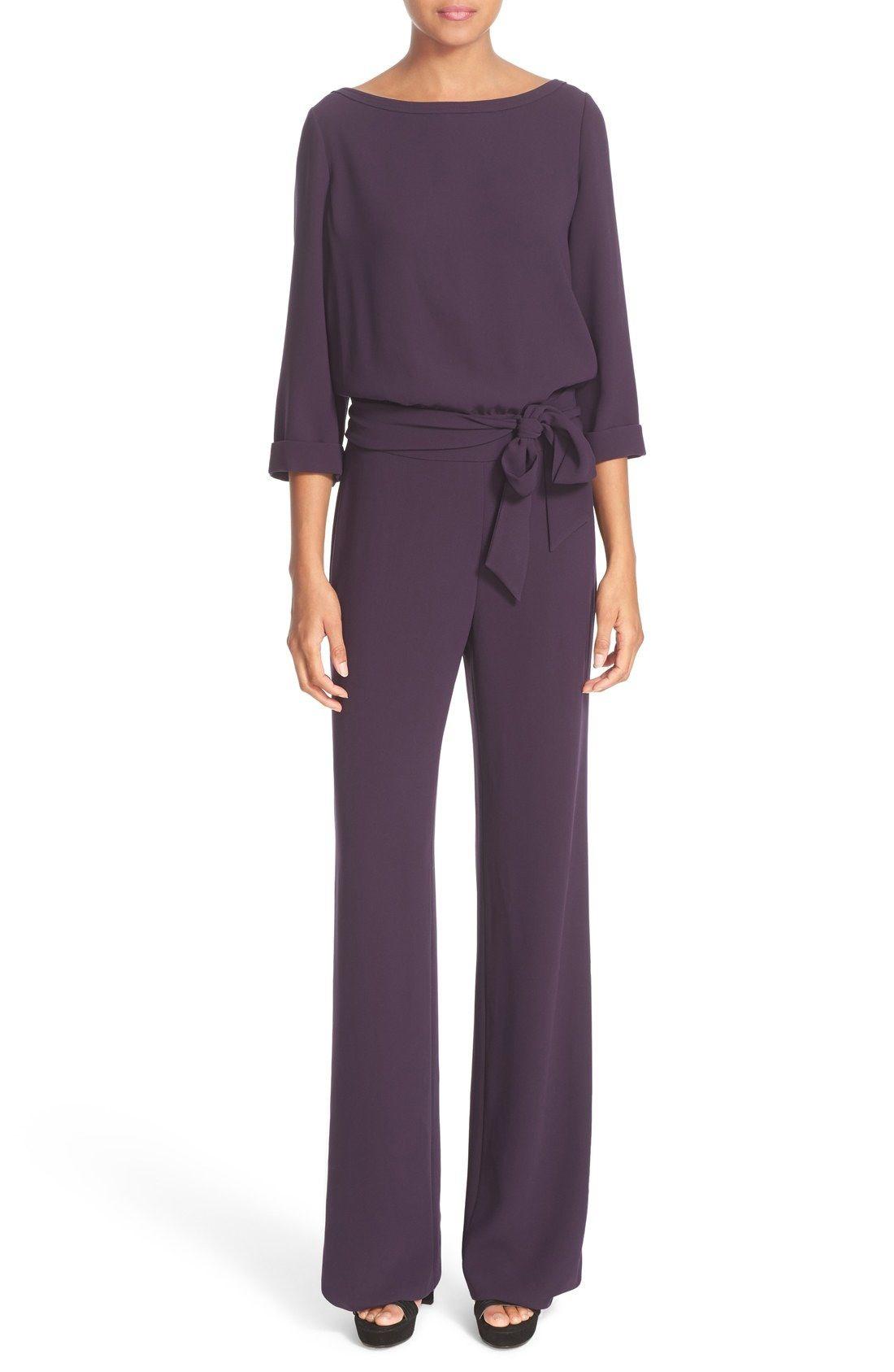 Diane von Furstenberg Gwynne Wide Leg Blouson Jumpsuit available at ...