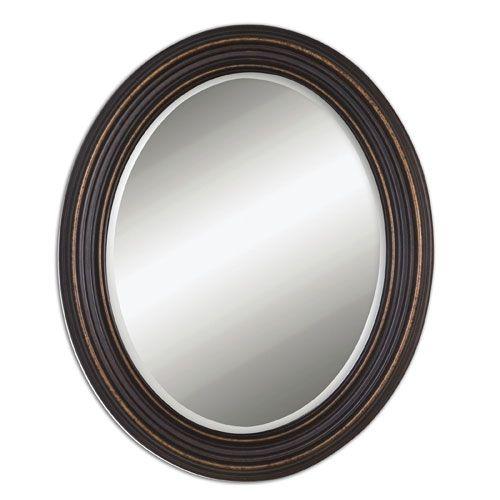 Uttermost Ovesca Dark Oil Rubbed Bronze Oval Mirror 14610 Bellacor Oval Mirror Mirror Wall Framed Mirror Wall Oil rubbed bronze oval mirror