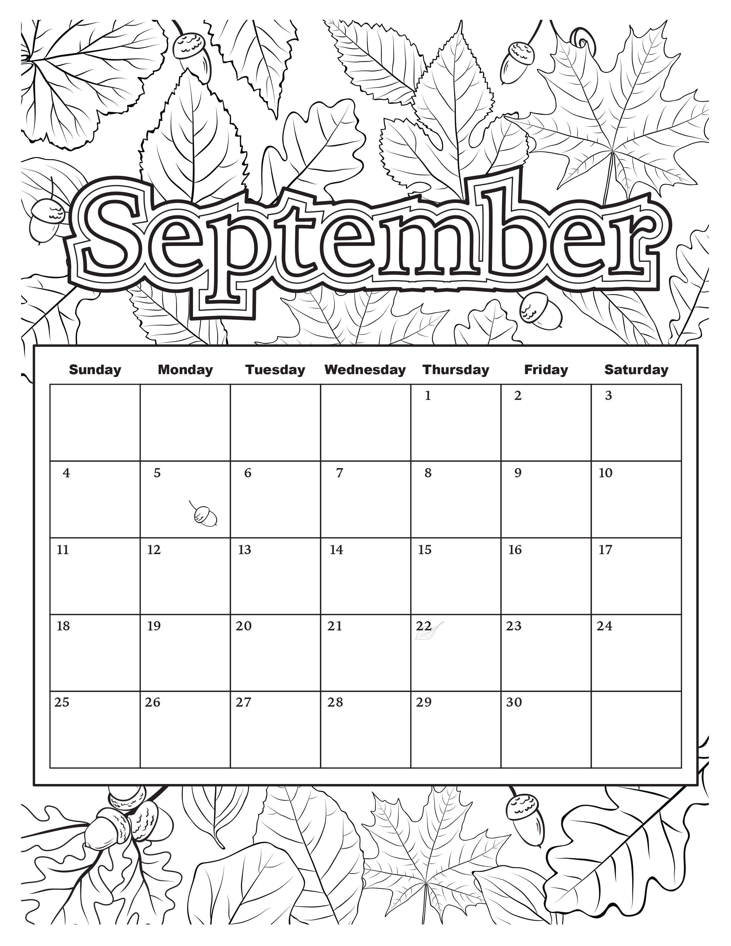 September Calendar In Word Excel Printable