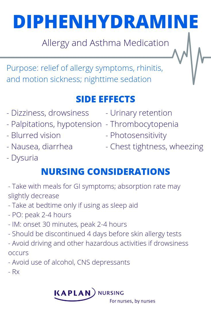 Learn about Diphenhydramine's (Benadryl) side effects and ...