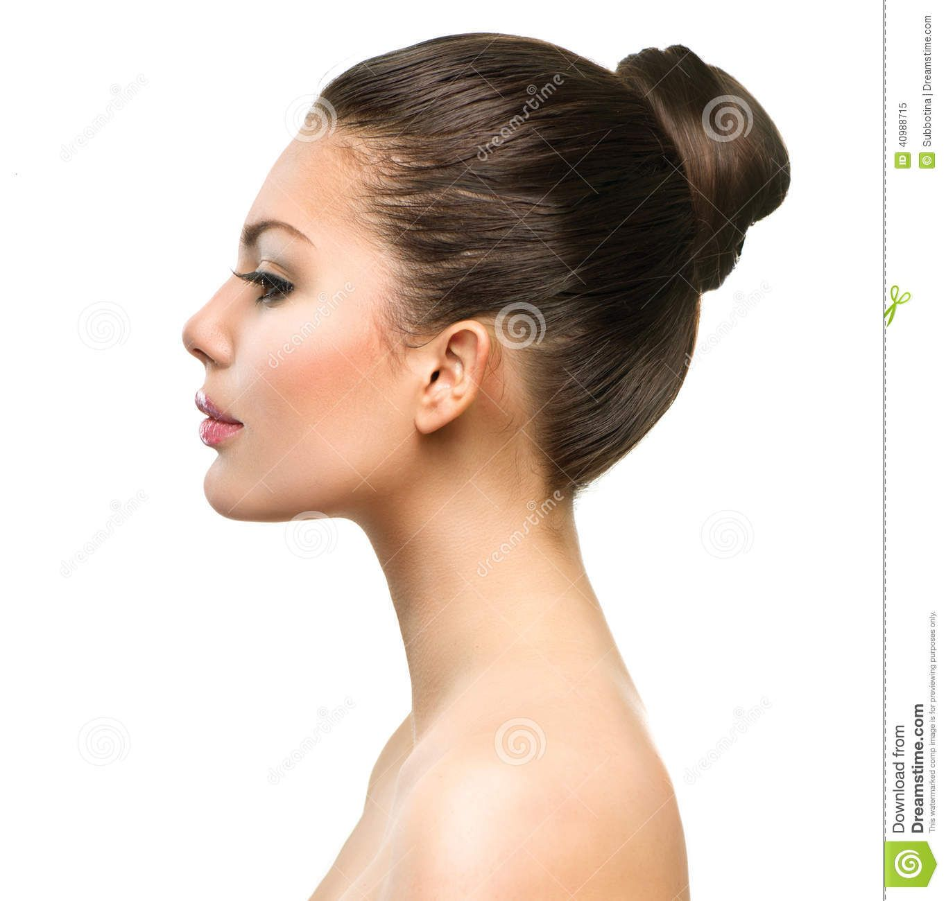 Beautiful Profile Face Of Young Woman Stock - 40988715 Profiles