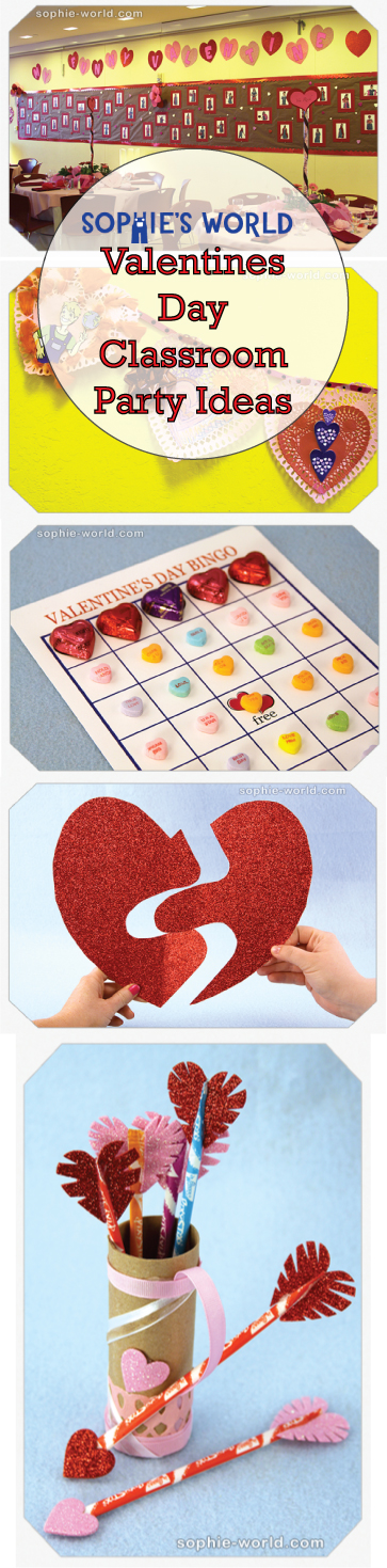 Valentines Day Classroom Party Ideas  http://sophie-world.com/blog/valentines-day-classroom-party