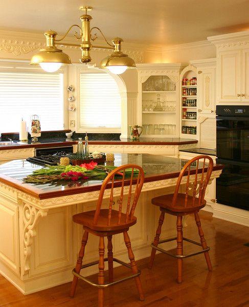 Kitchen Design Unique: Custom-kitchen-island-victorian