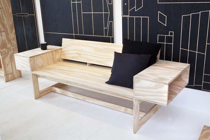 Een designbank van underlayment karwei diy idee n for Zelf meubels maken van hout
