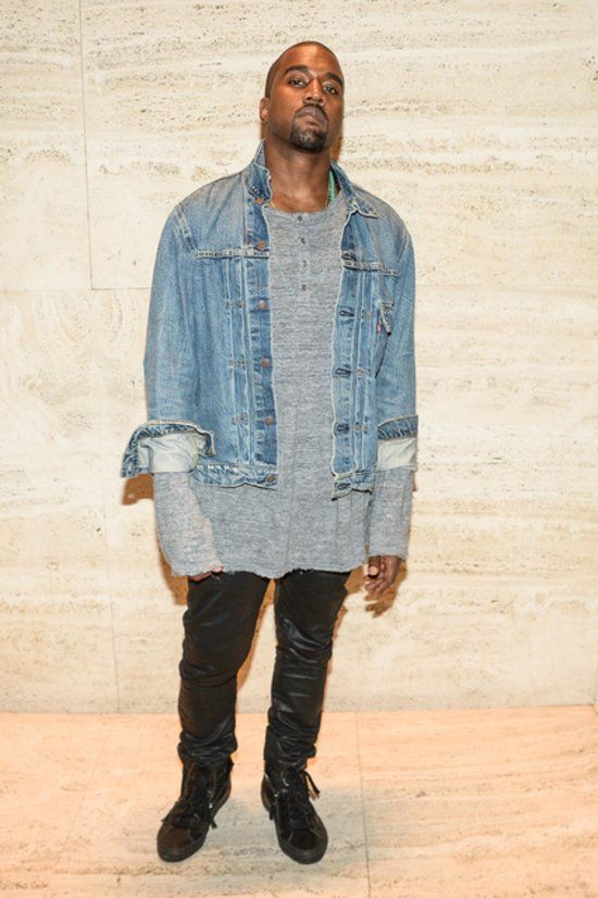 Please Someone Explain Why He Always Chooses This Fashion Ensemble Always With The Jean Shirt Dude Looks Like A Hom Kanye West Outfits Fashion Jean Shirts