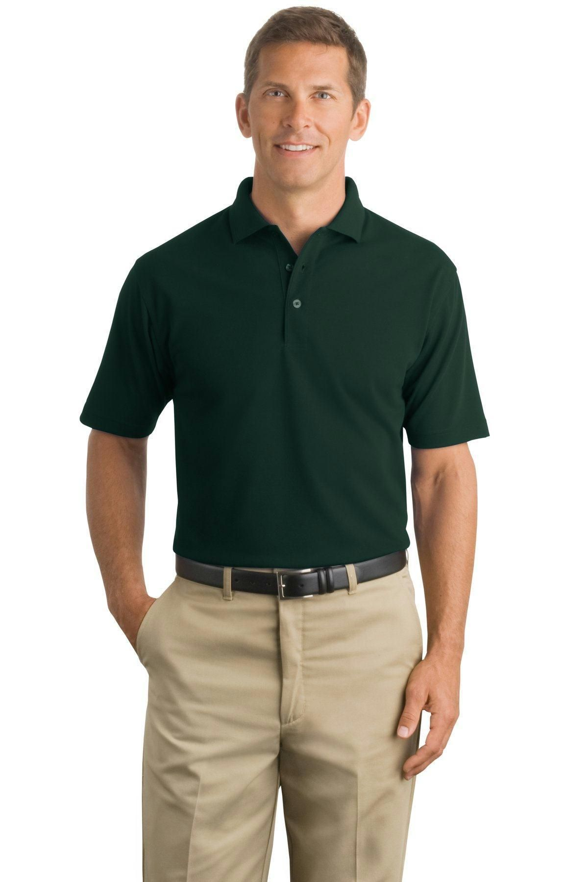 STAIN RESISTANT POCKET SIDE VENTS S-6XL PIQUE POLO SHIRT MENS INDUSTRIAL WORK