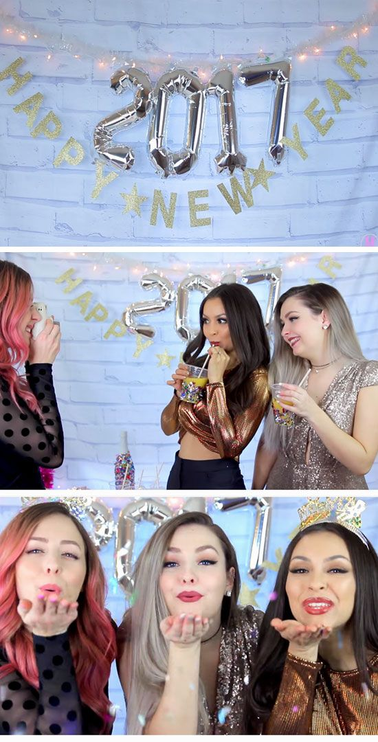 Photobooth Backdrop | Easy New Years Eve Party Ideas on a ...