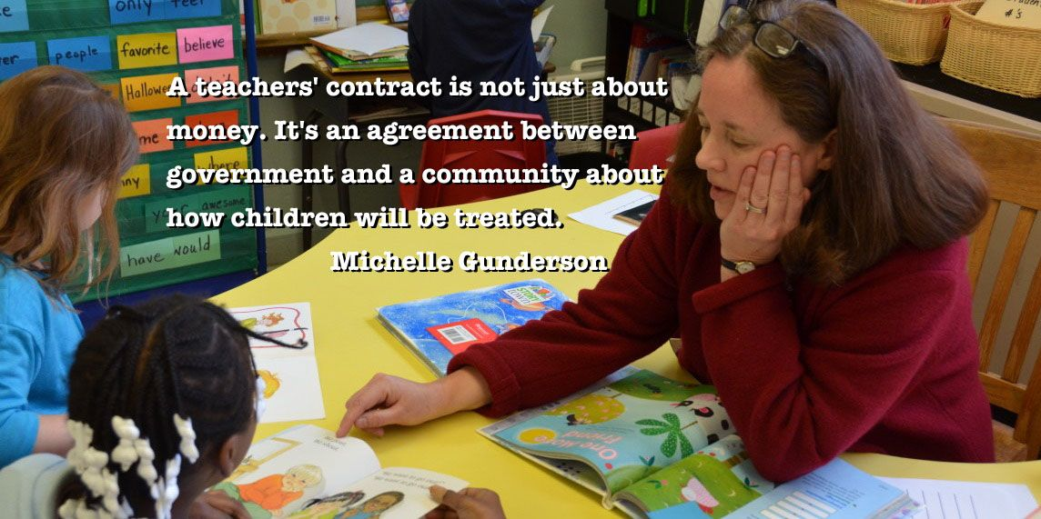 By Michelle Strater Gunderson A Teachers Contract Is Not Just