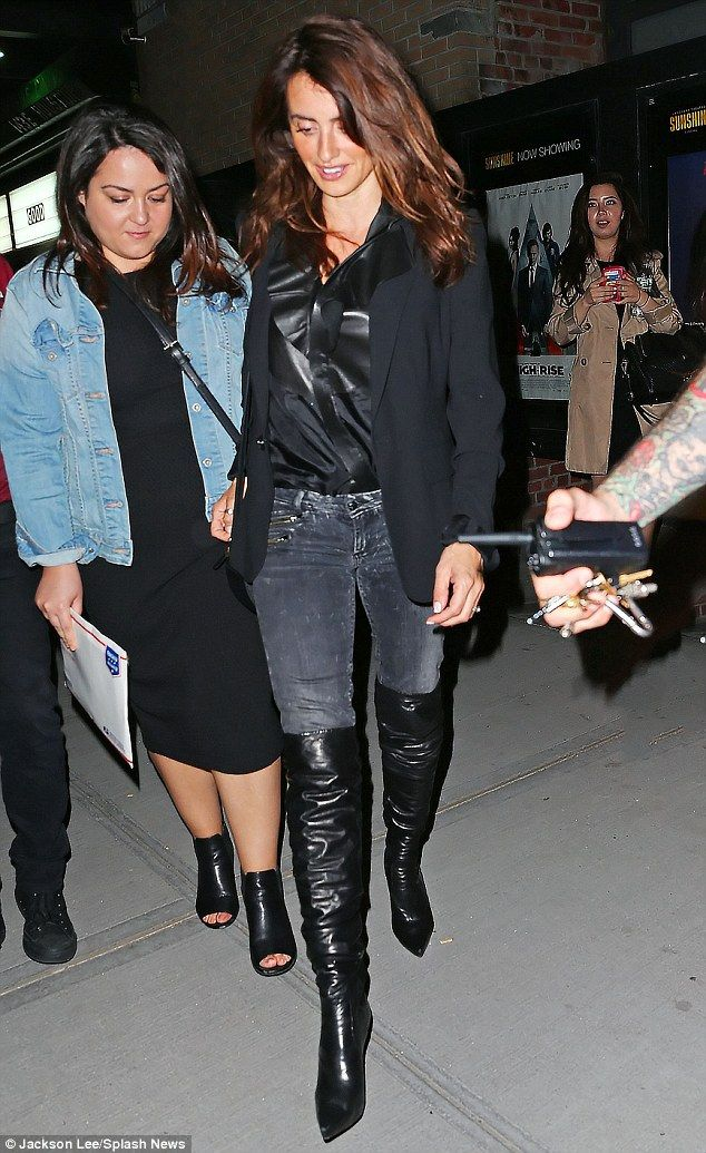 b33eb5c6b46 Penelope Cruz dons her favourite thigh-high leather boots in NYC ...